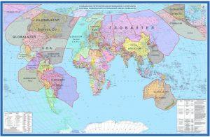 Карта покрытия Globalstar