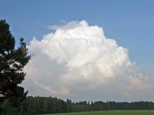 Кучевые средние облака
