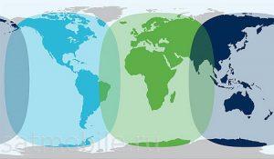 карта покрытия инмарсат