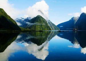 фиорд Новой Зеландии
