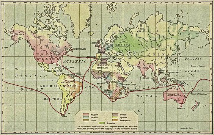 карта первого кругосветного плавания