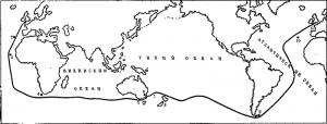 карта кругосветки Френсиса Чичестера
