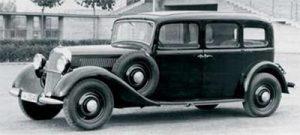 Первый серийный автомобиль с дизельным двигателем
