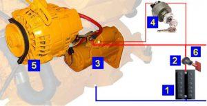 система электрооборудования судового двигателя